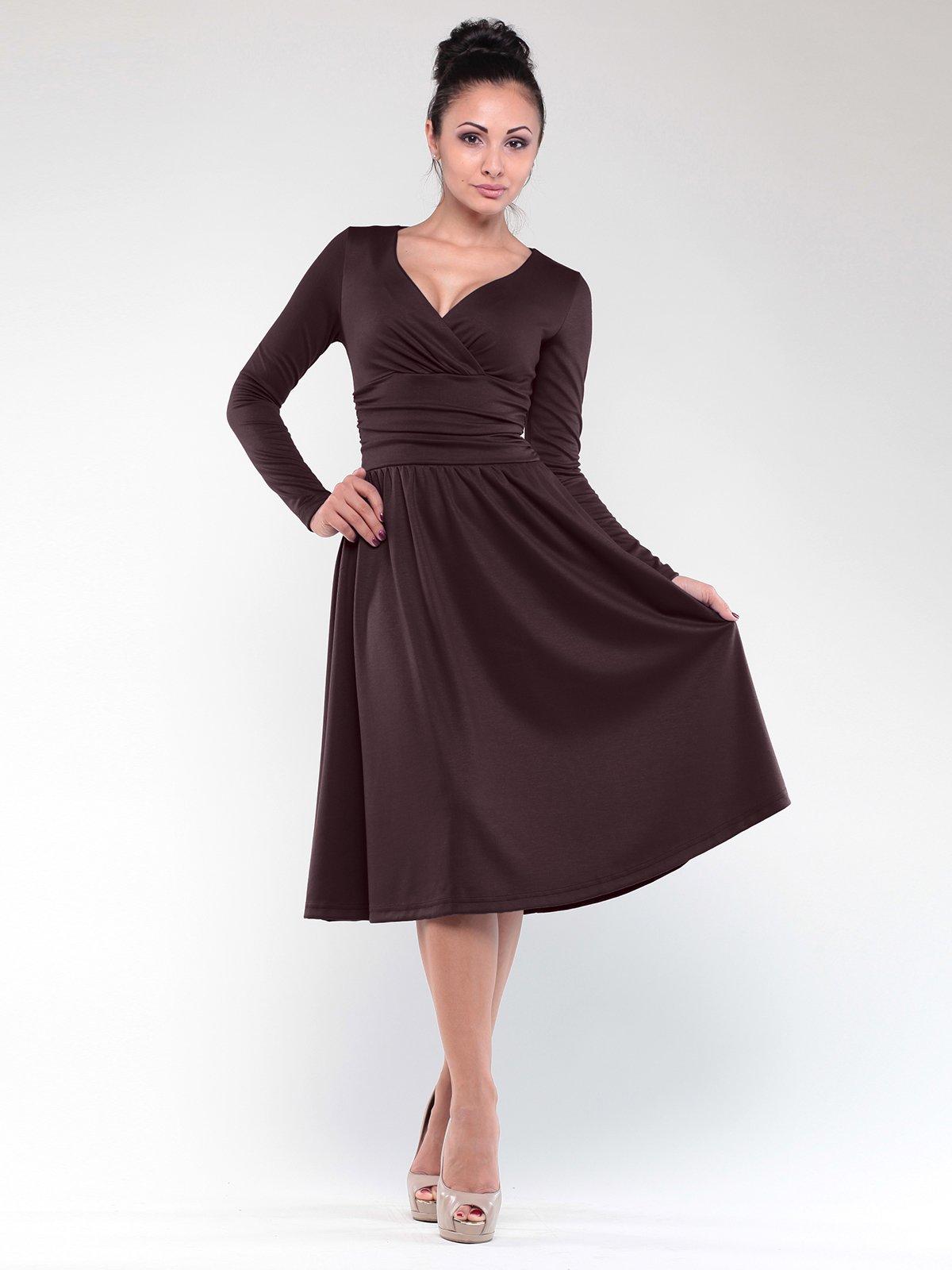 Сукня шоколадного кольору | 1842217