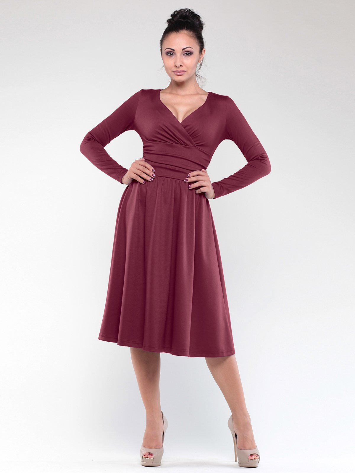Платье сливового цвета   1842218