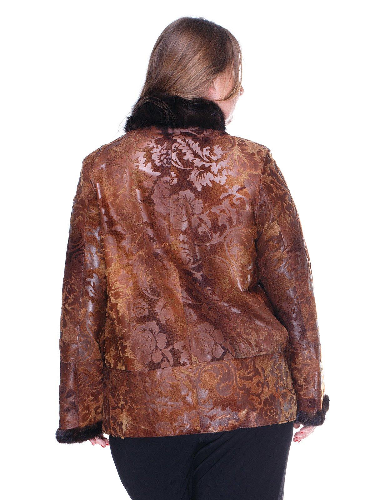 Куртка коричнева з квітковим малюнком   1848849   фото 2