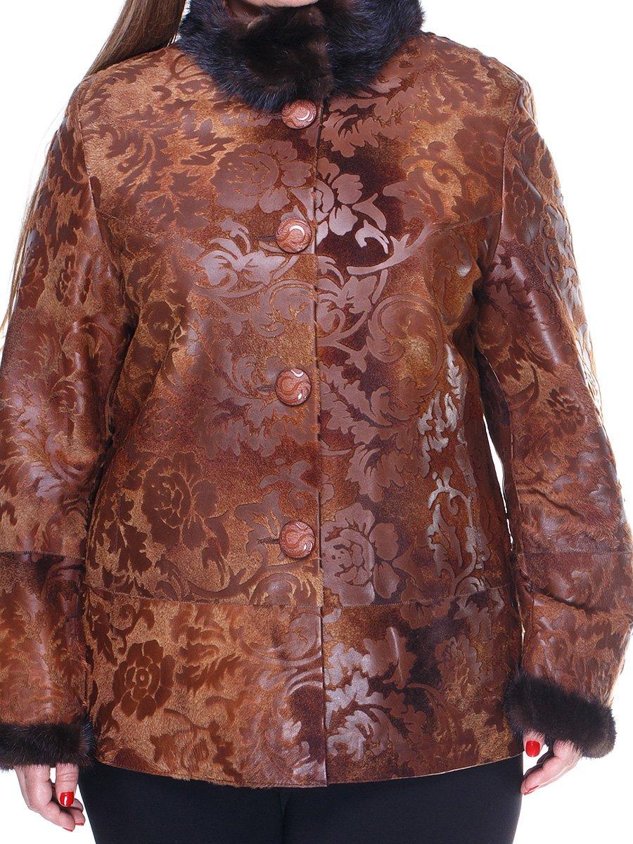 Куртка коричнева з квітковим малюнком   1848849   фото 3
