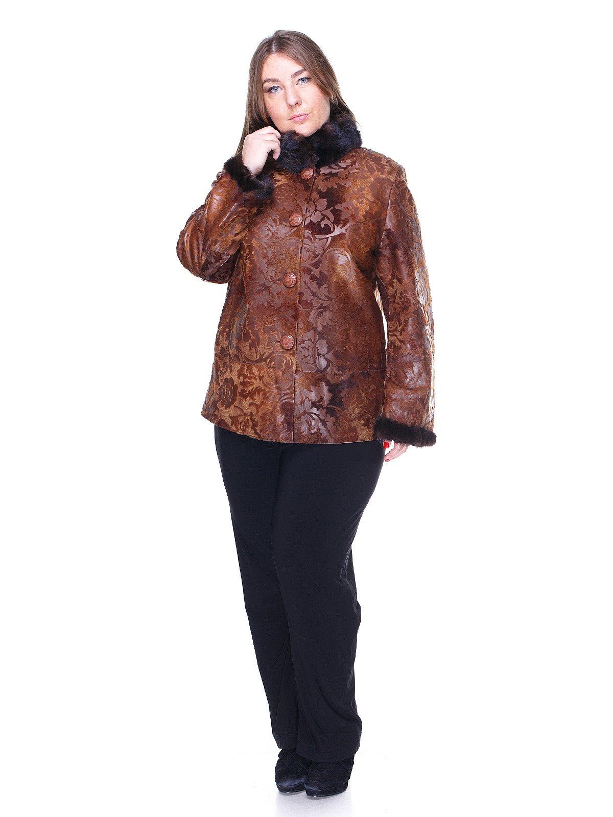 Куртка коричнева з квітковим малюнком   1848849   фото 4