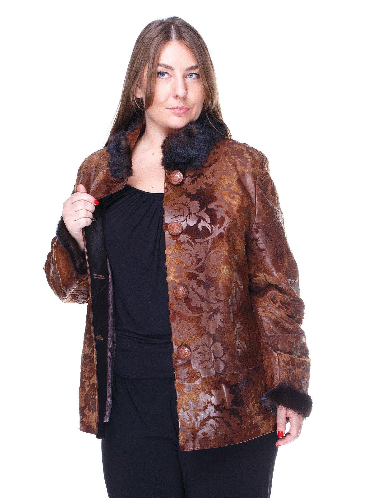 Куртка коричнева з квітковим малюнком   1848849   фото 5