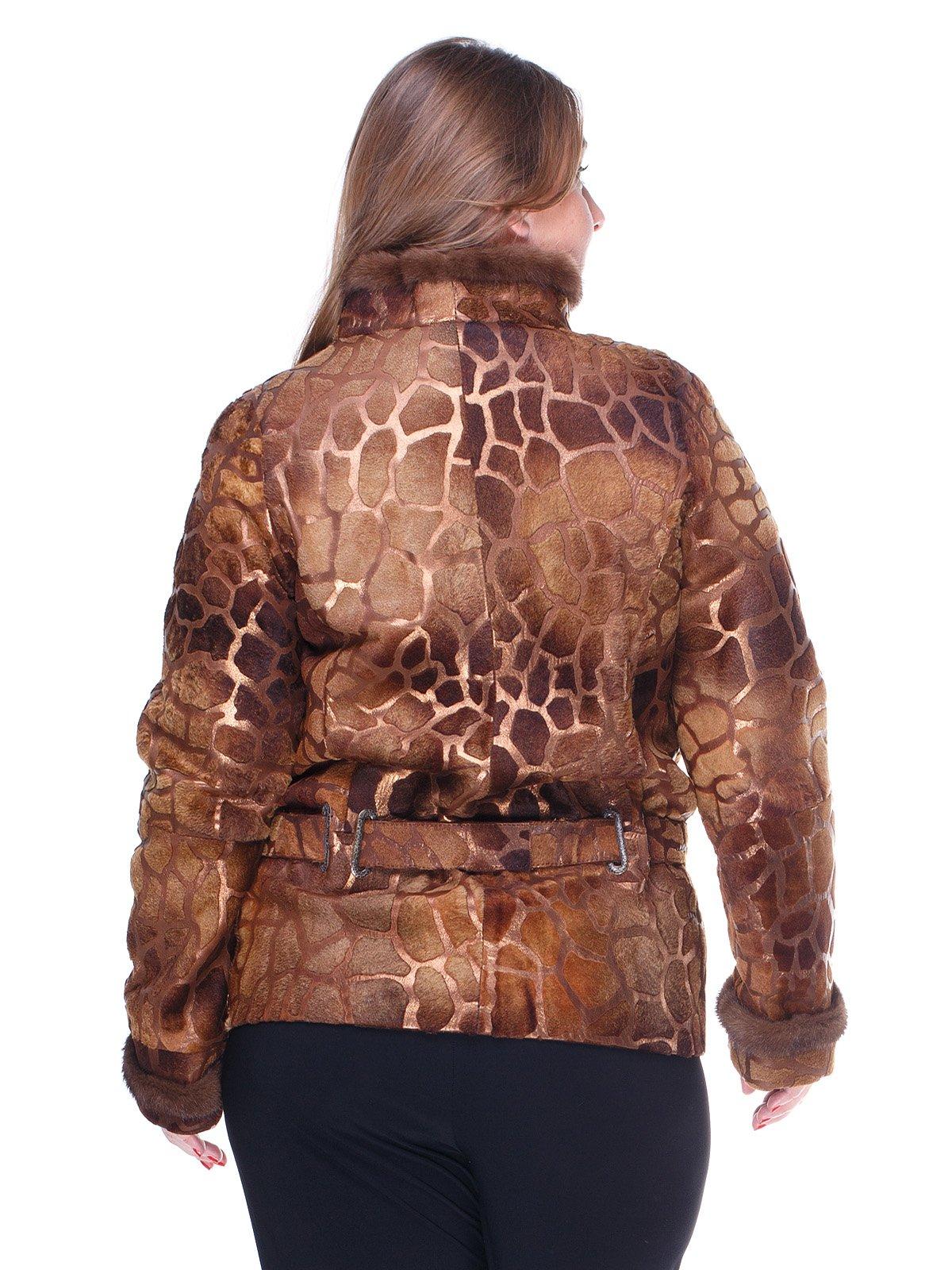 Куртка пісочного кольору з малюнком | 1848848 | фото 2