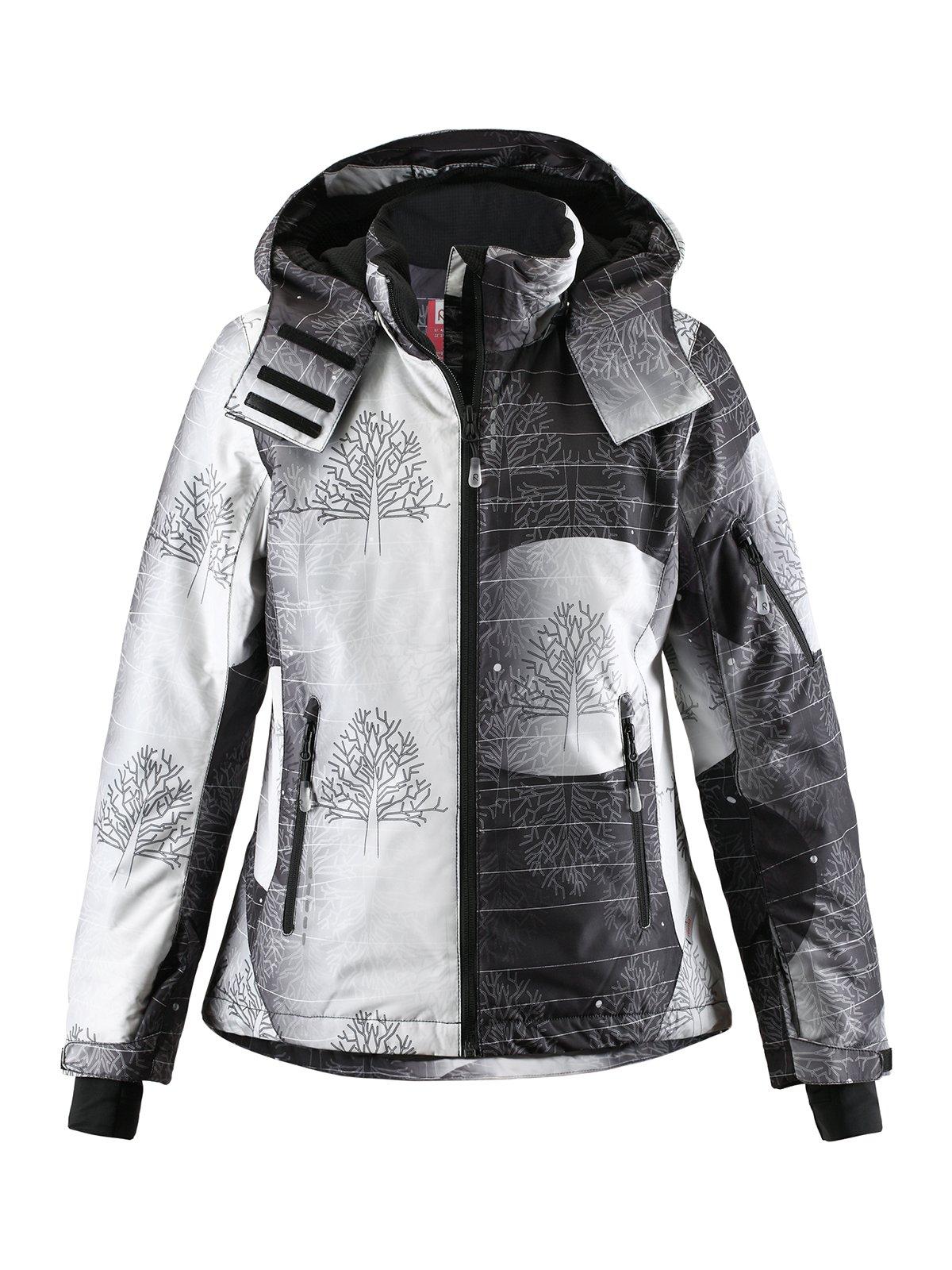 Куртка чорно-біла в принт | 1852338