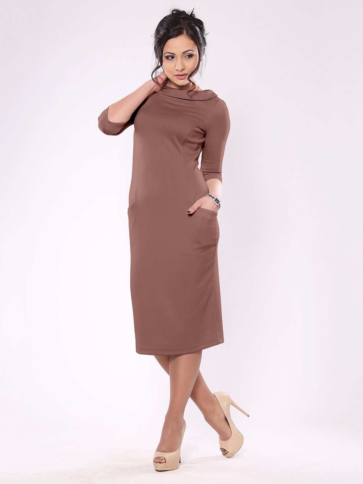 Платье цвета мокко   1861140