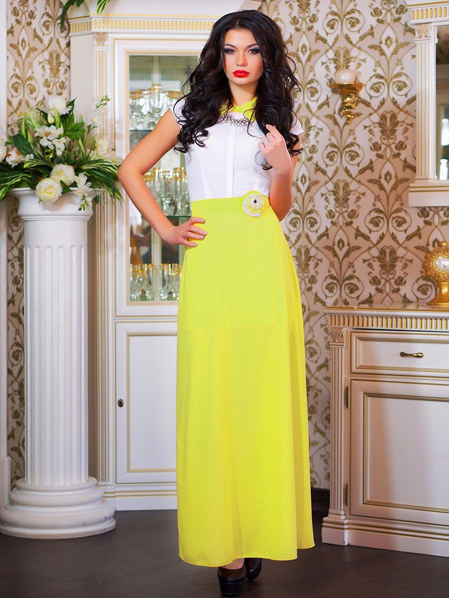 Сукня біло-жовта з квіткою | 1693853 | фото 4