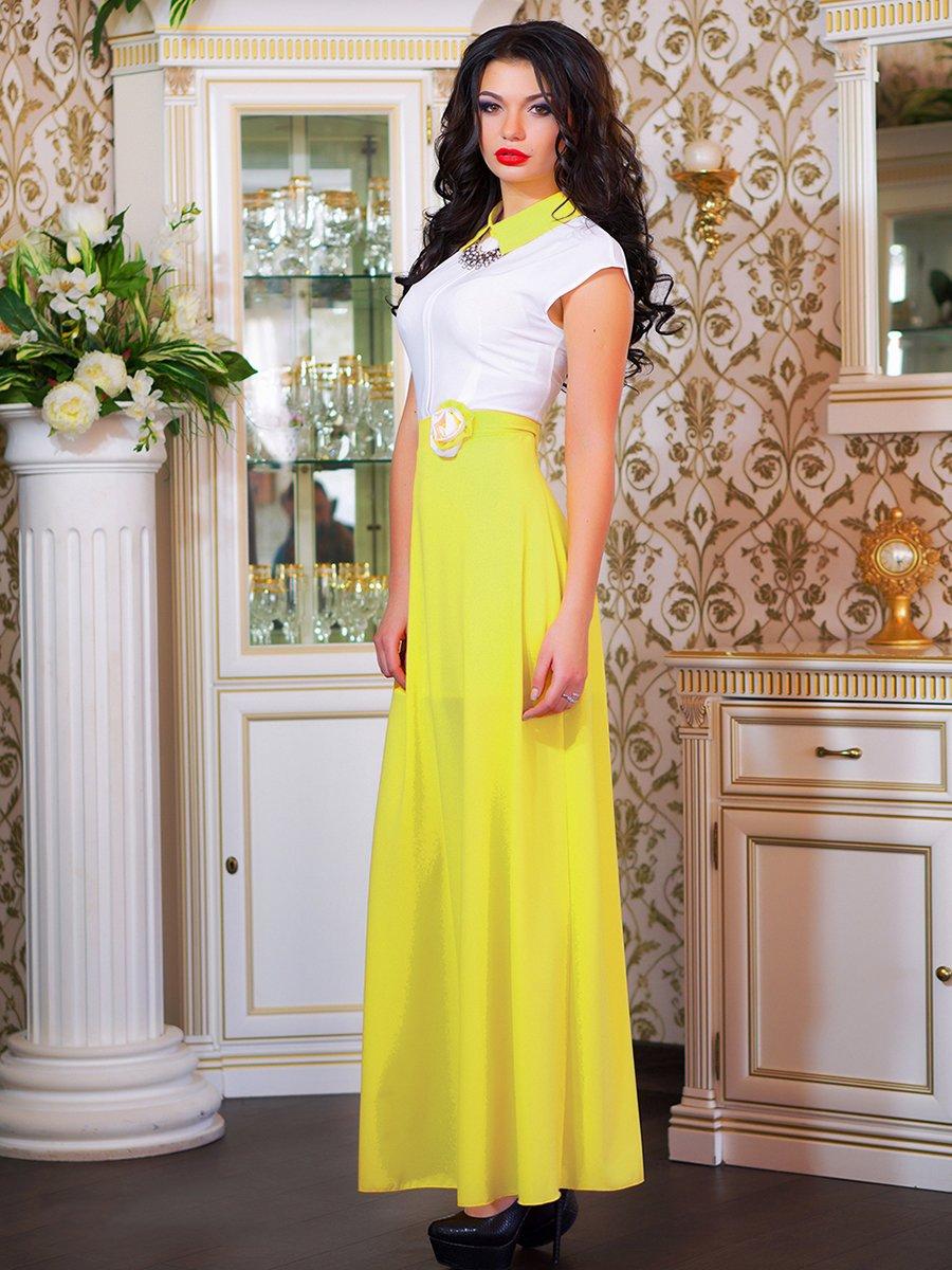 Сукня біло-жовта з квіткою | 1693853 | фото 5