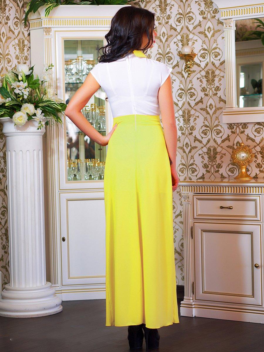 Сукня біло-жовта з квіткою | 1693853 | фото 6