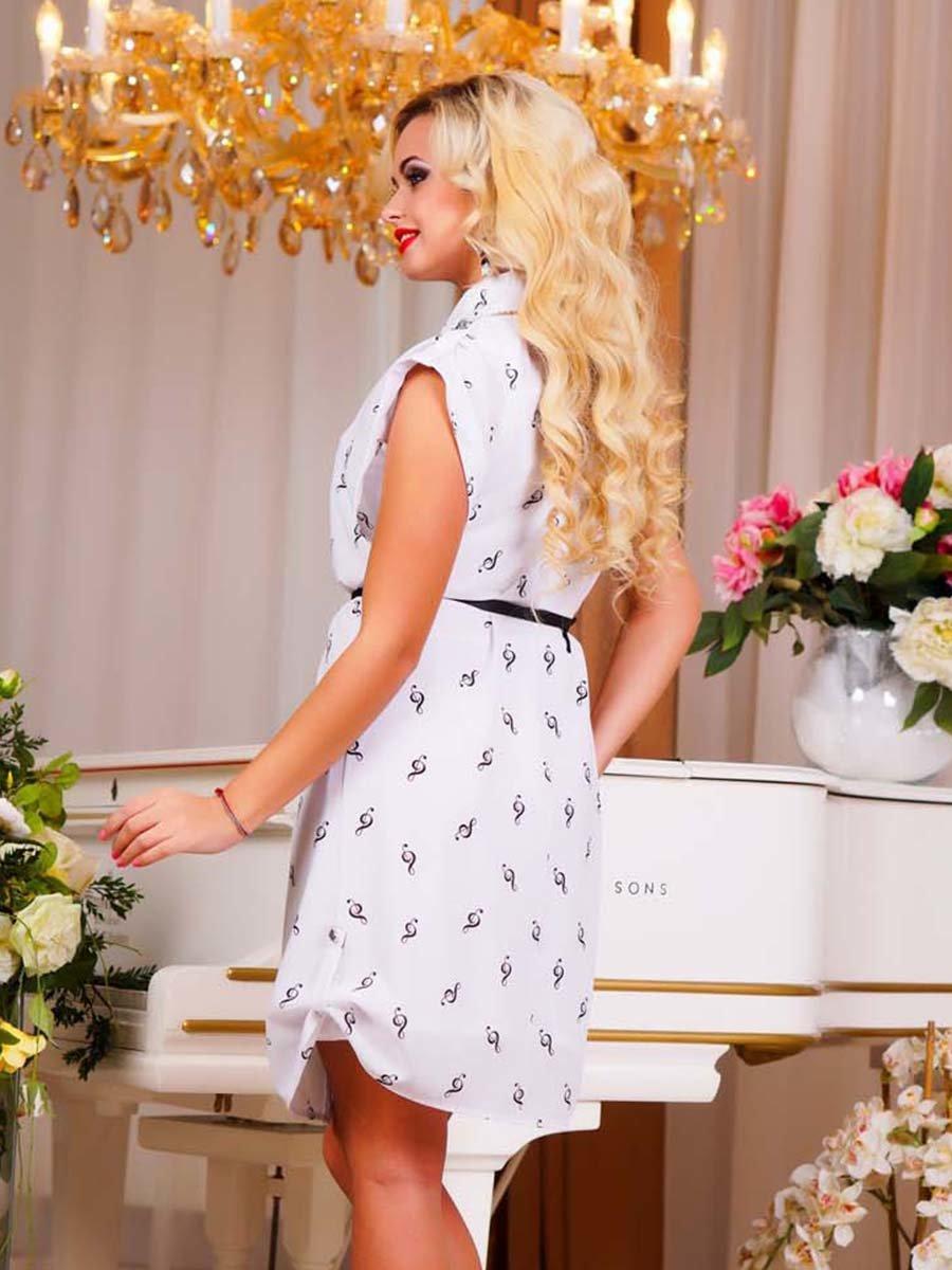 Сукня біла в принт | 1749162 | фото 6