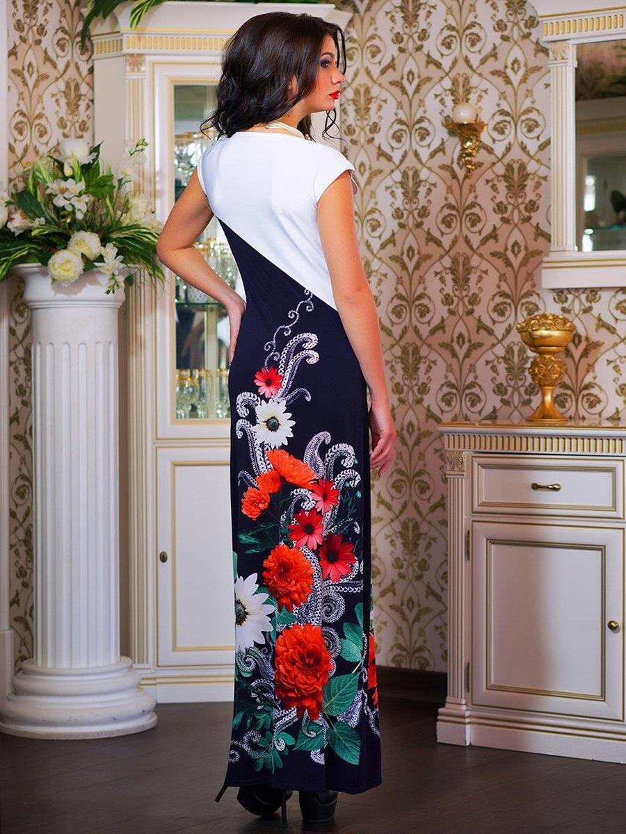 Сукня двоколірна з квітковим принтом | 1833760 | фото 6