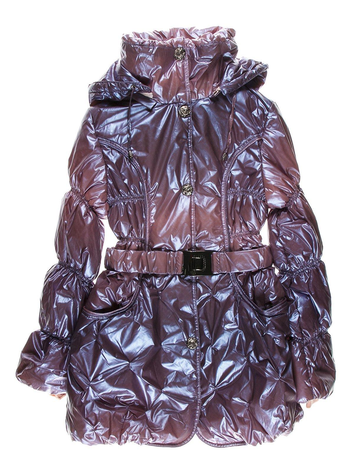 Пальто лілового кольору утеплене | 1879010