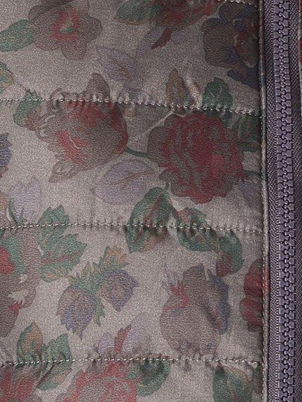 Куртка серая в цветочный принт | 1873944 | фото 3