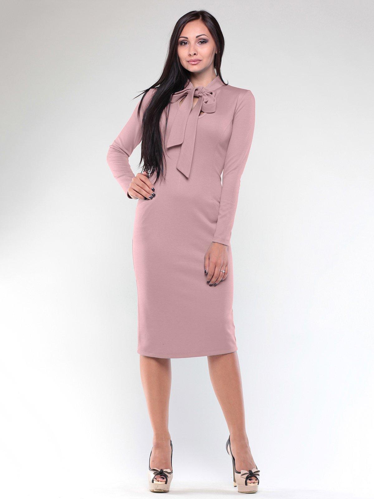 Платье бежево-розовое | 1887496