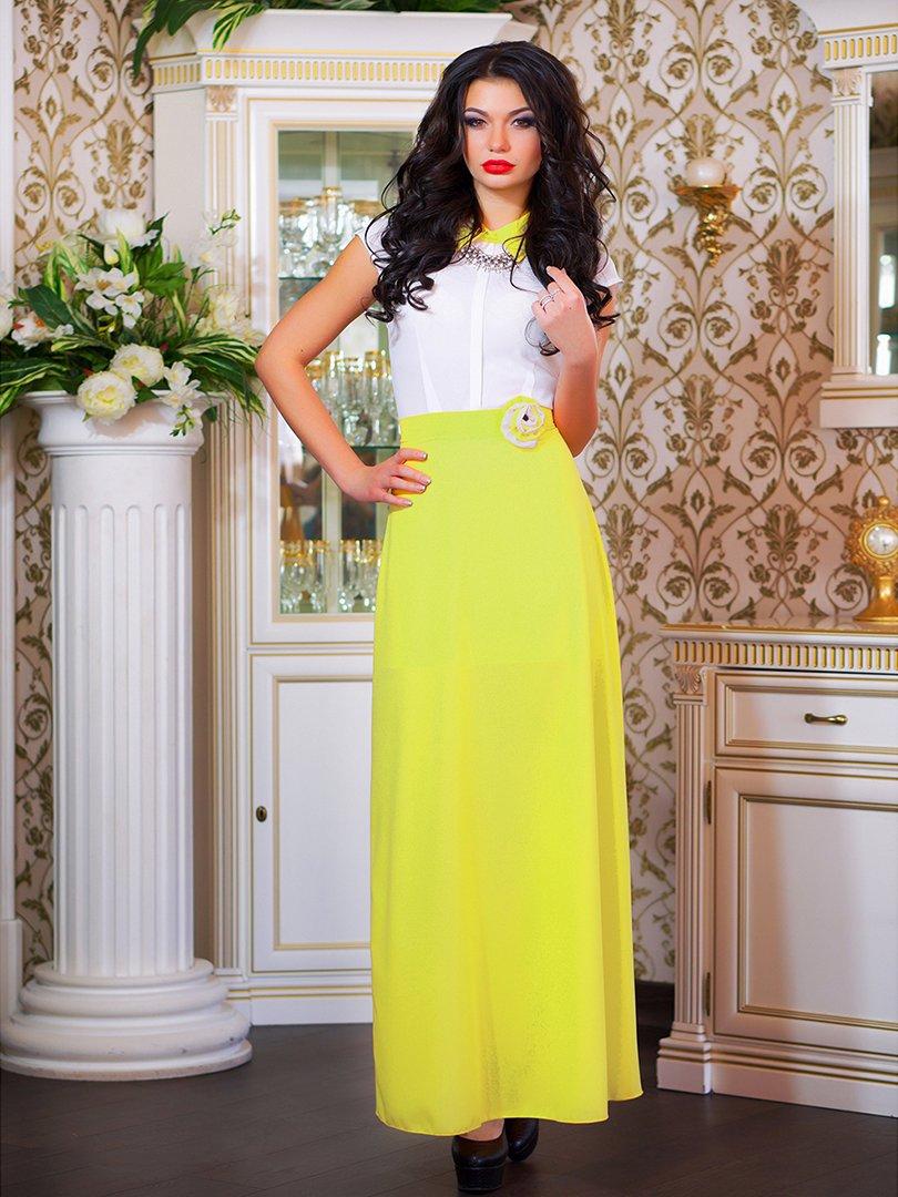 Сукня біло-жовта з квіткою | 1693853 | фото 7