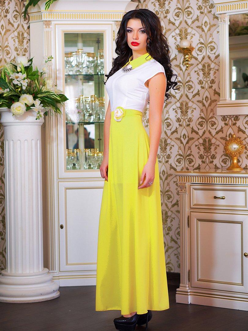 Сукня біло-жовта з квіткою | 1693853 | фото 8