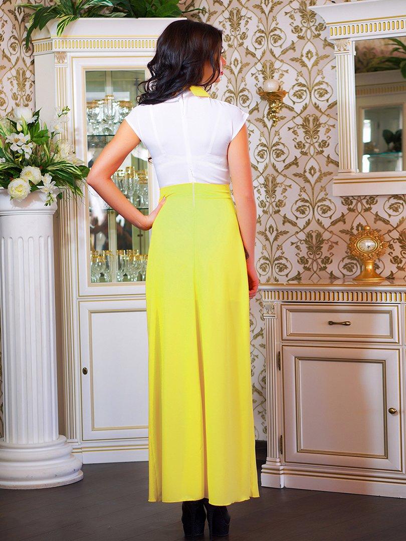 Сукня біло-жовта з квіткою | 1693853 | фото 9