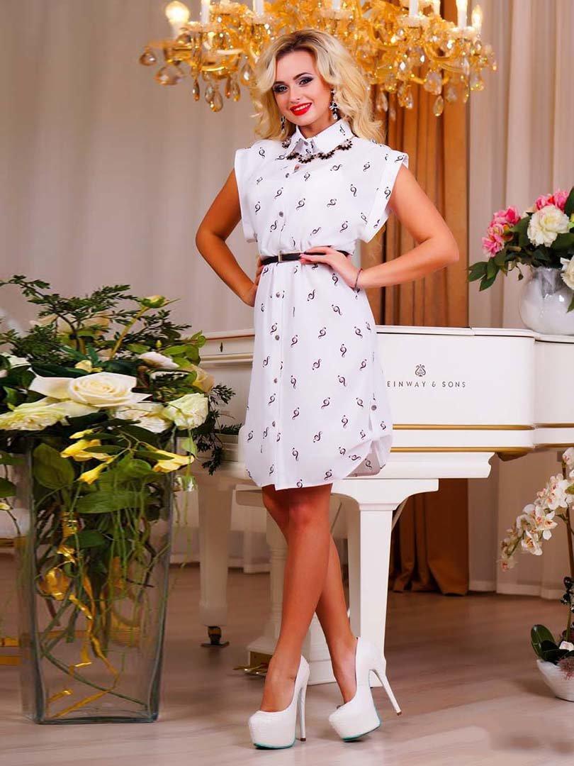 Сукня біла в принт | 1749162 | фото 8