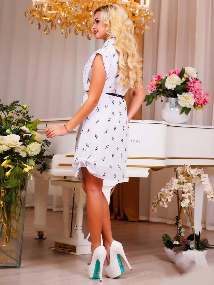 Сукня біла в принт | 1749162 | фото 9