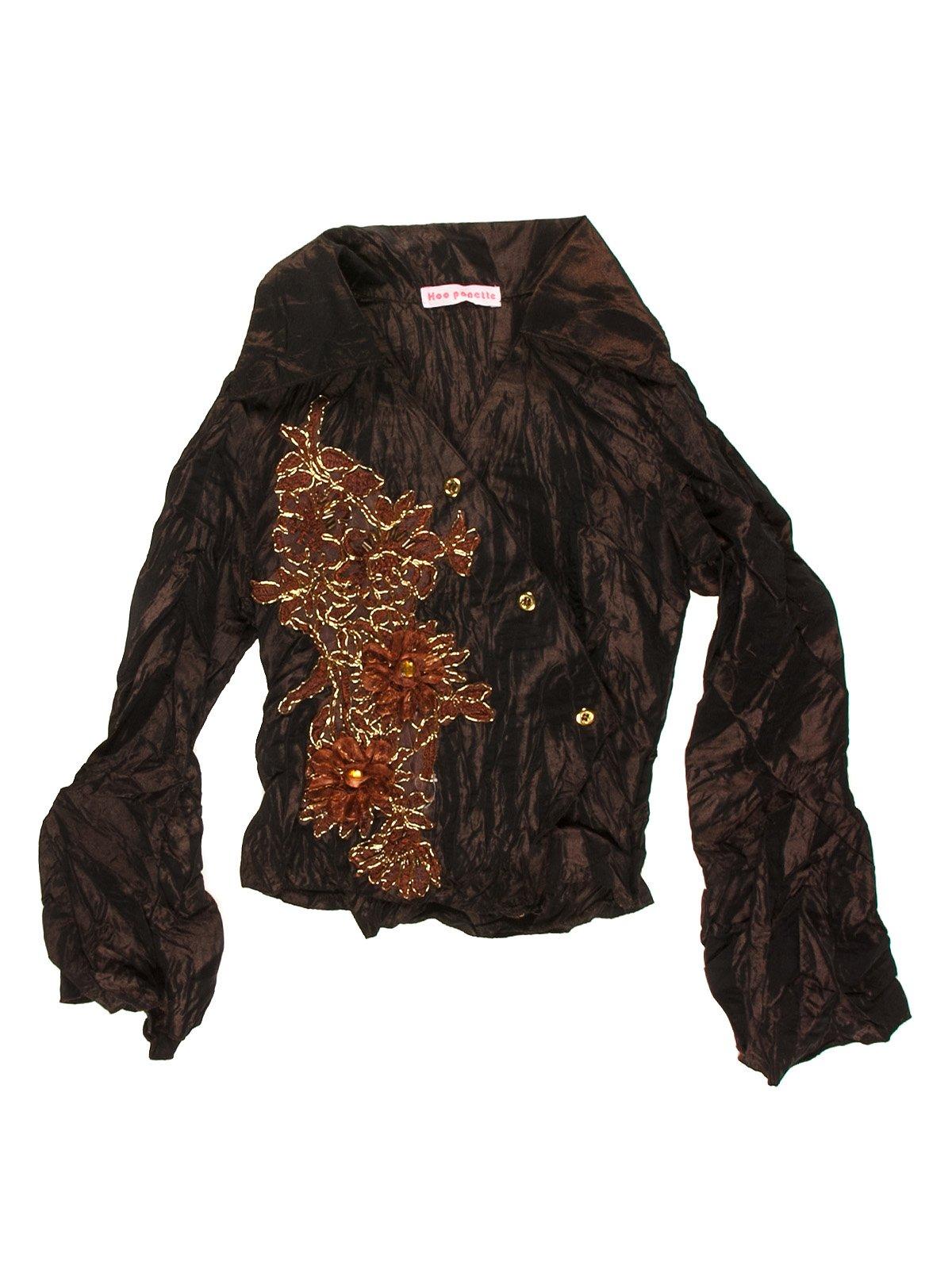 Блуза коричневая с рисунком   1878972