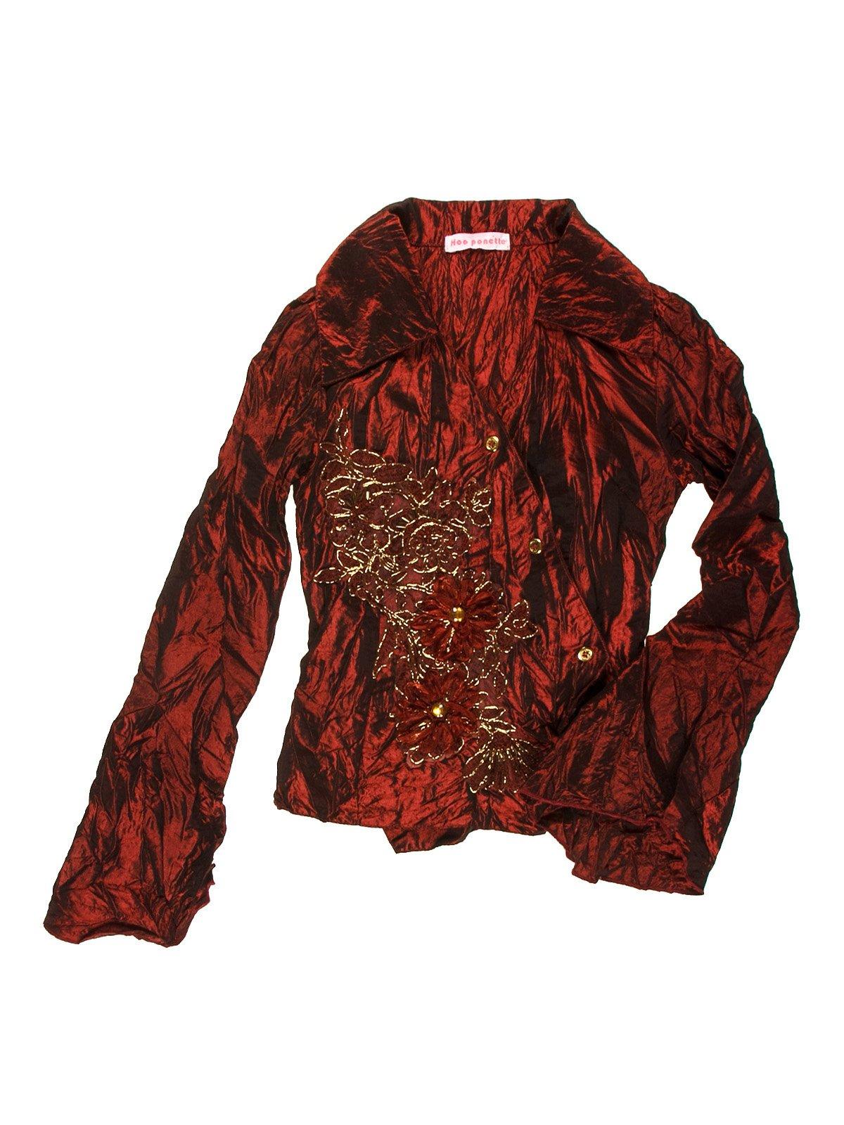 Блуза бордова з малюнком | 1878973