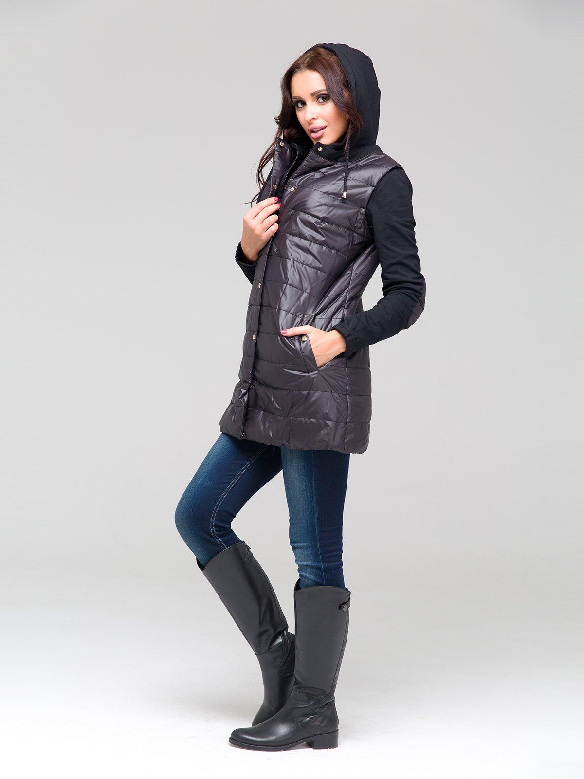 Пальто черное | 1889138 | фото 2
