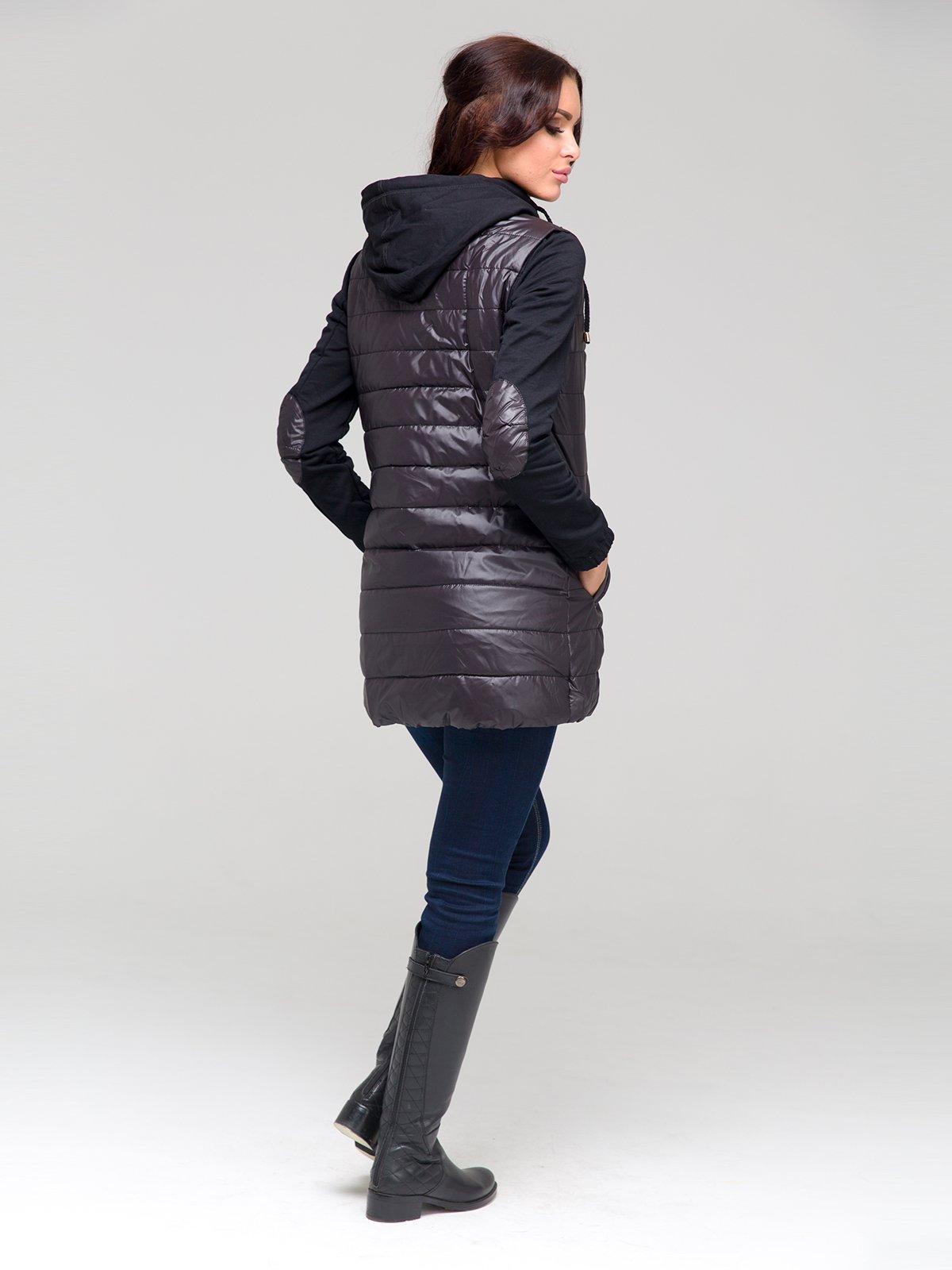 Пальто черное | 1889138 | фото 3