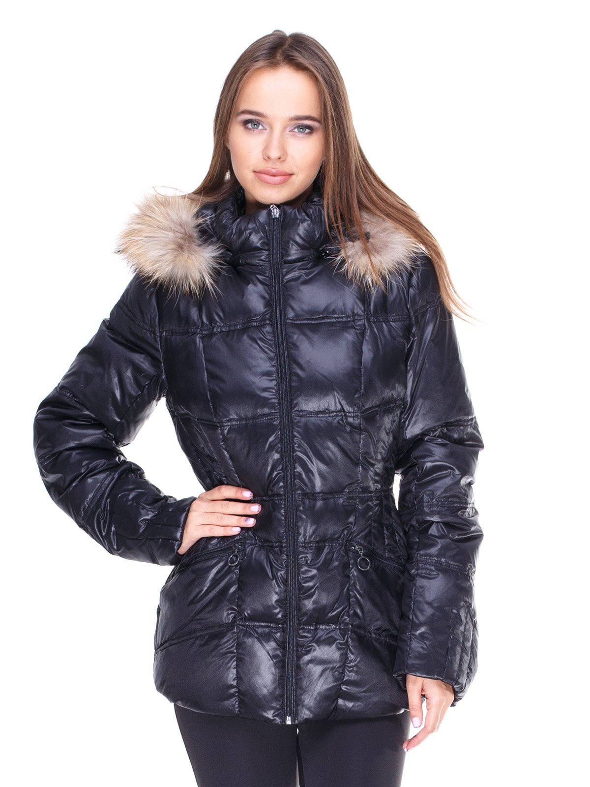Куртка чорна пухова   1888296