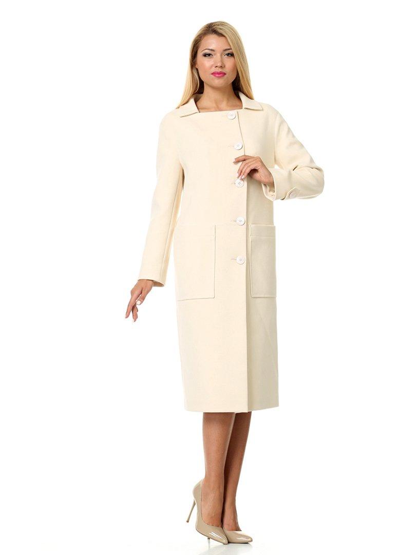Пальто молочного цвета | 1907221 | фото 4