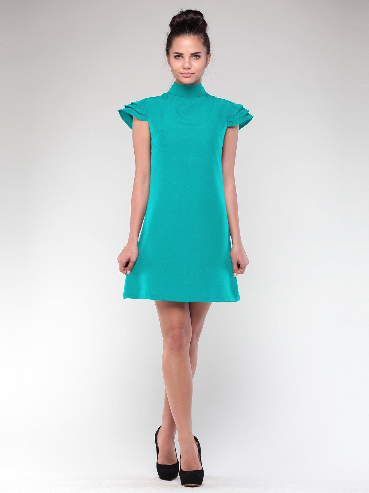 Платье темно-ментолового цвета | 1912489