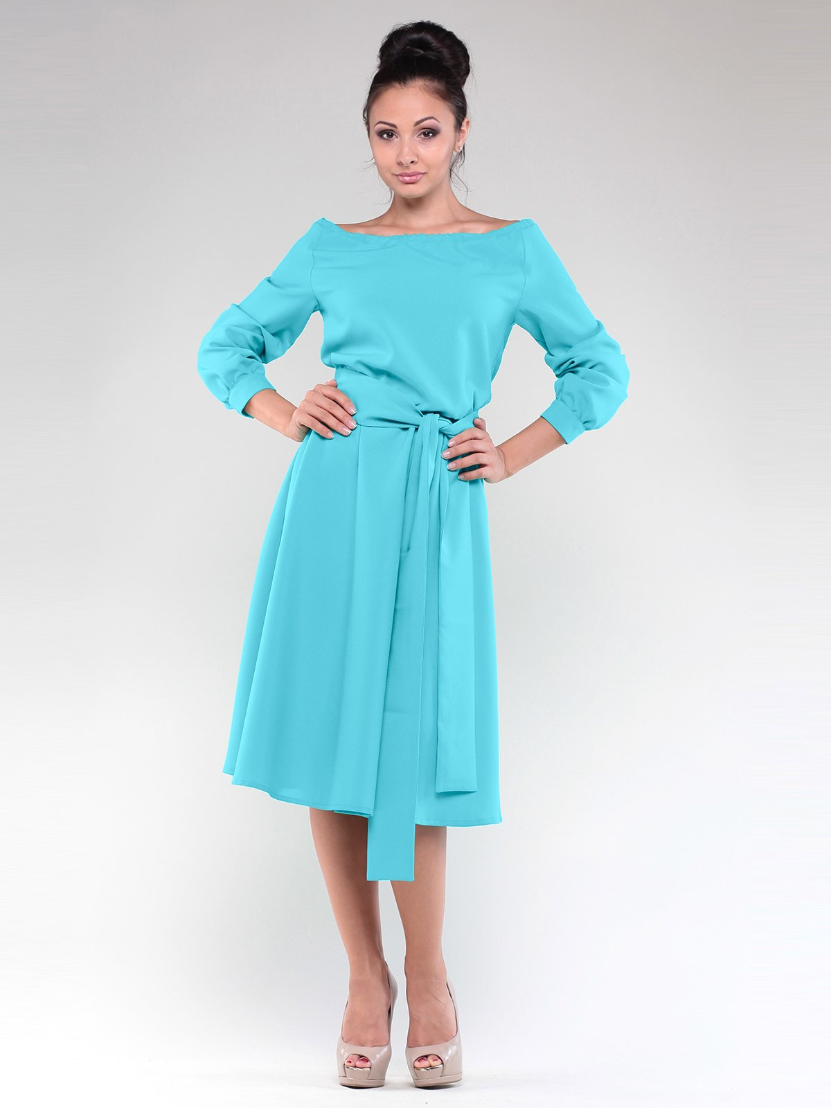 Сукня світло-ментолового кольору | 1918711