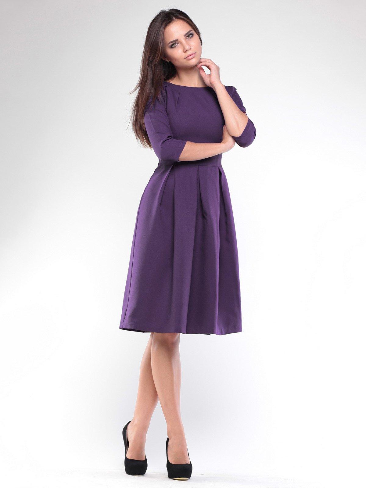 Платье темно-фиолетовое | 1927775 | фото 3