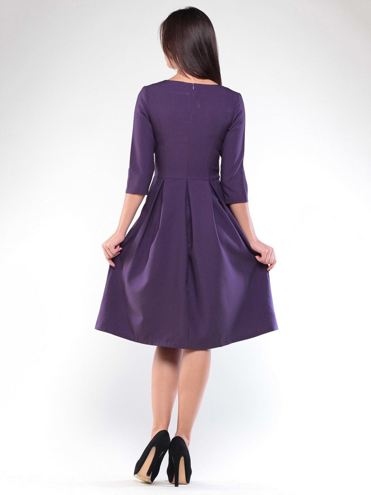 Платье темно-фиолетовое | 1927775 | фото 4