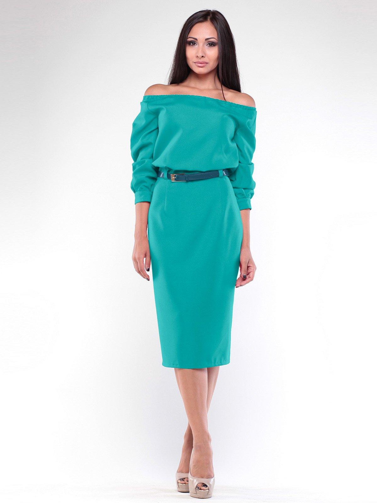 Сукня темно-ментолового кольору | 1935697