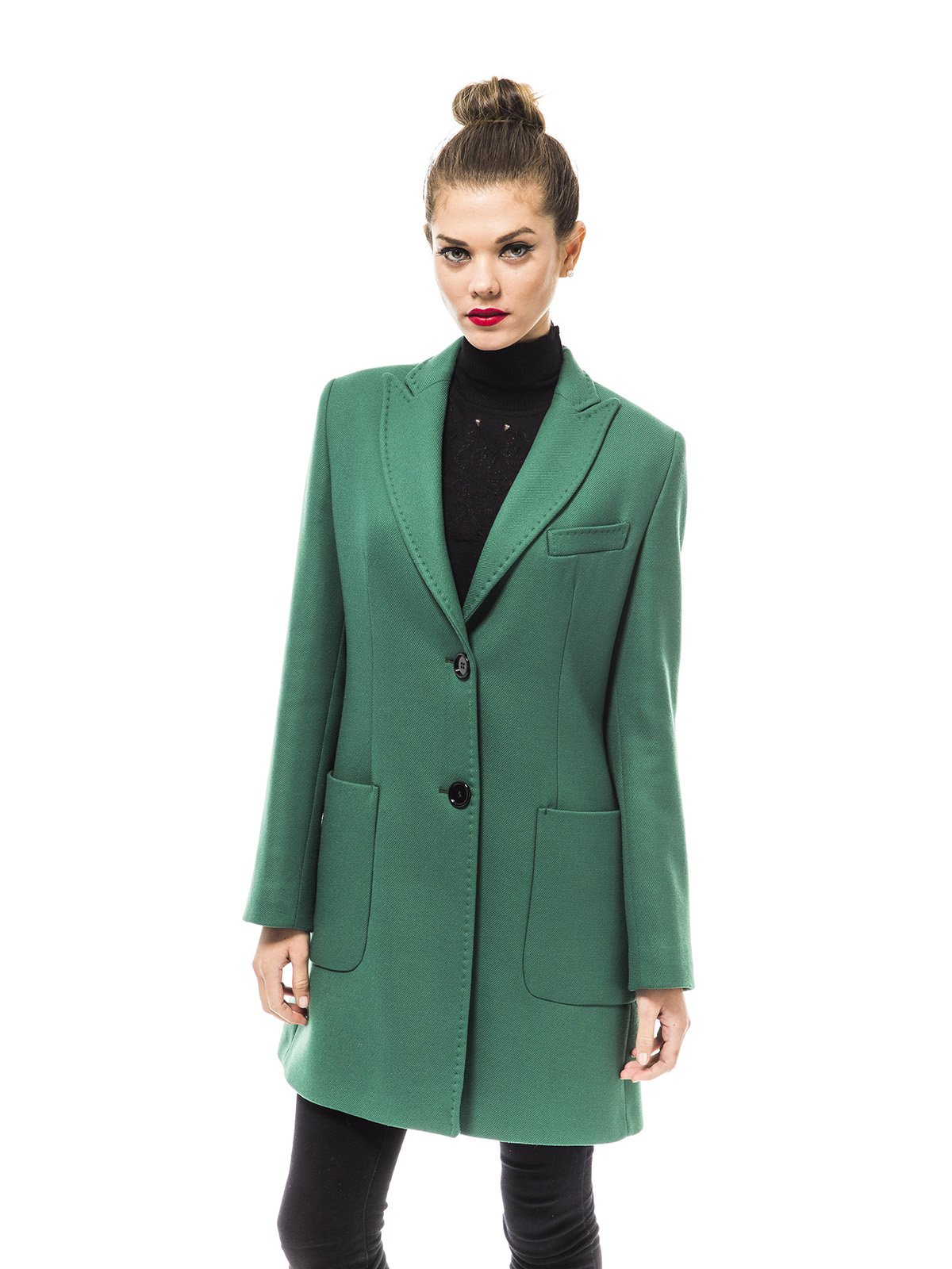Пальто зеленое | 1938462