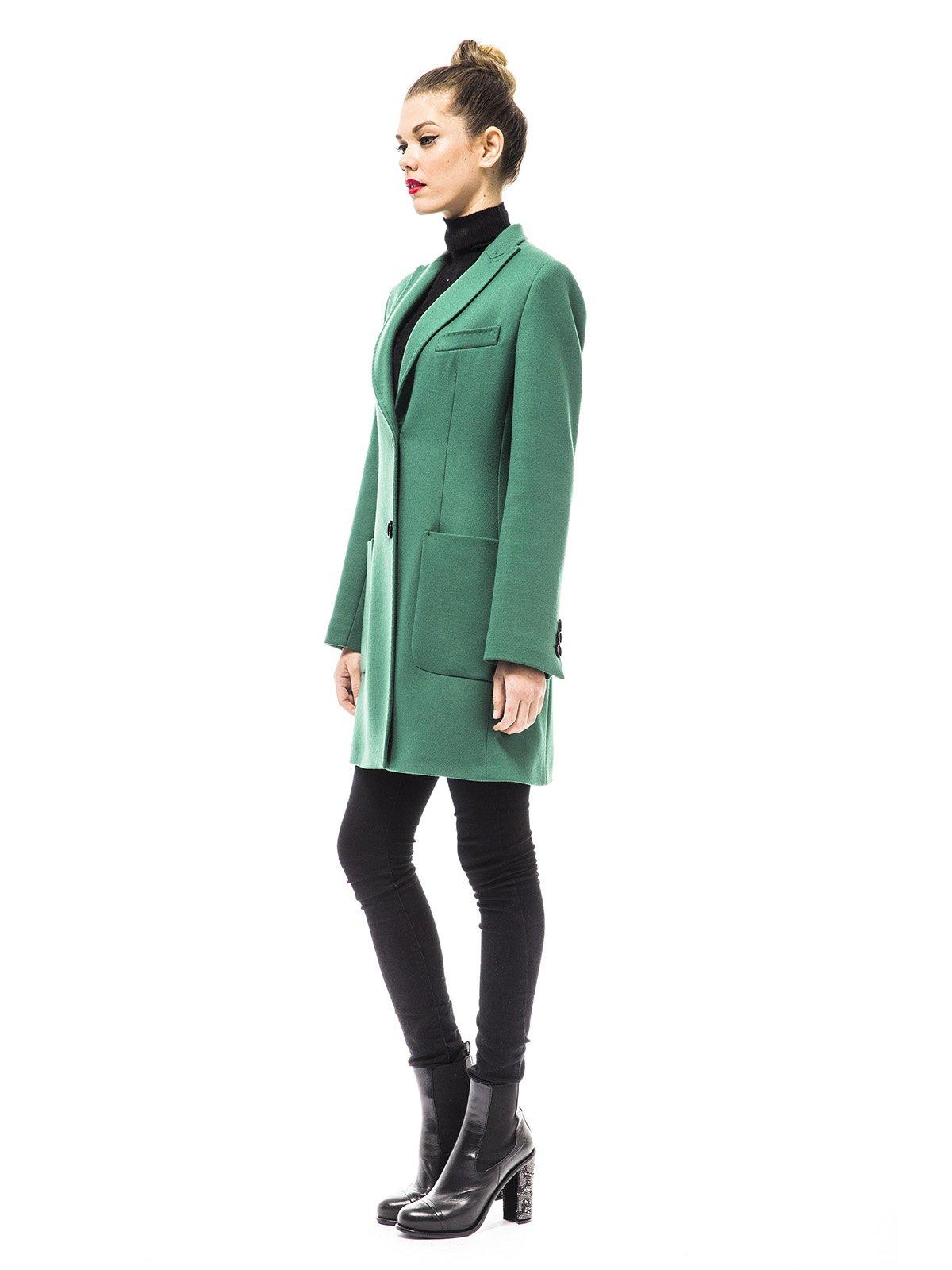 Пальто зеленое | 1938462 | фото 2