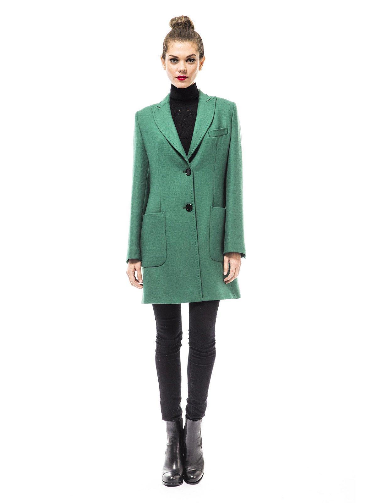 Пальто зеленое | 1938462 | фото 4