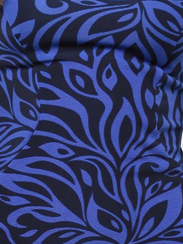 Джемпер сине-черный в принт   1946801   фото 3