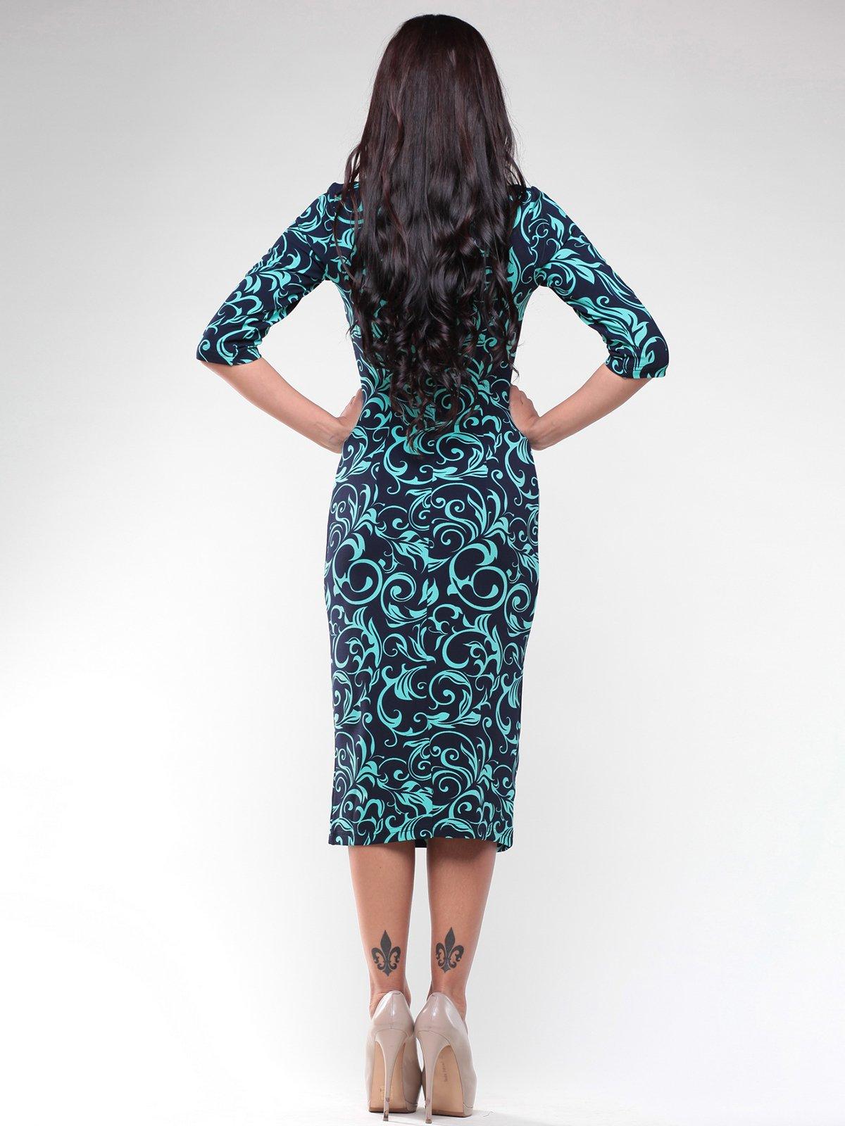 Платье темно-синее в принт   1934760   фото 2