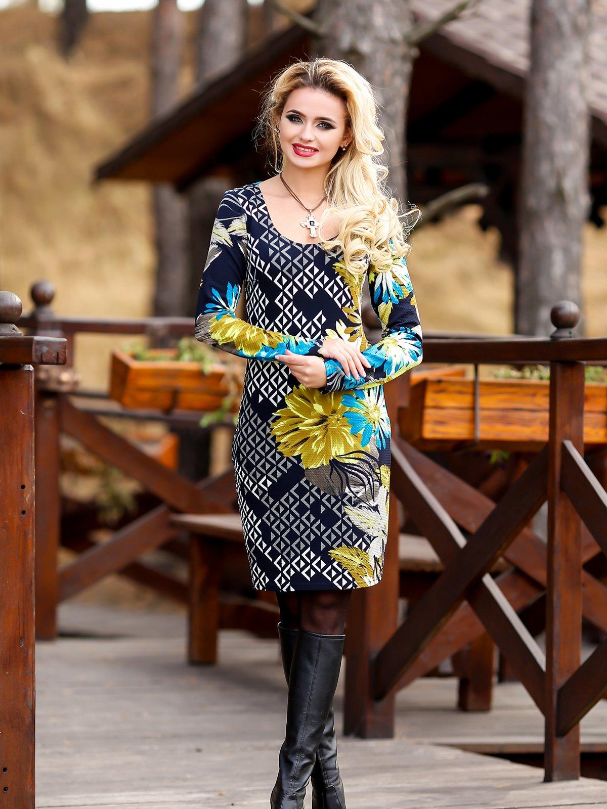 Сукня комбінованого забарвлення | 1946269