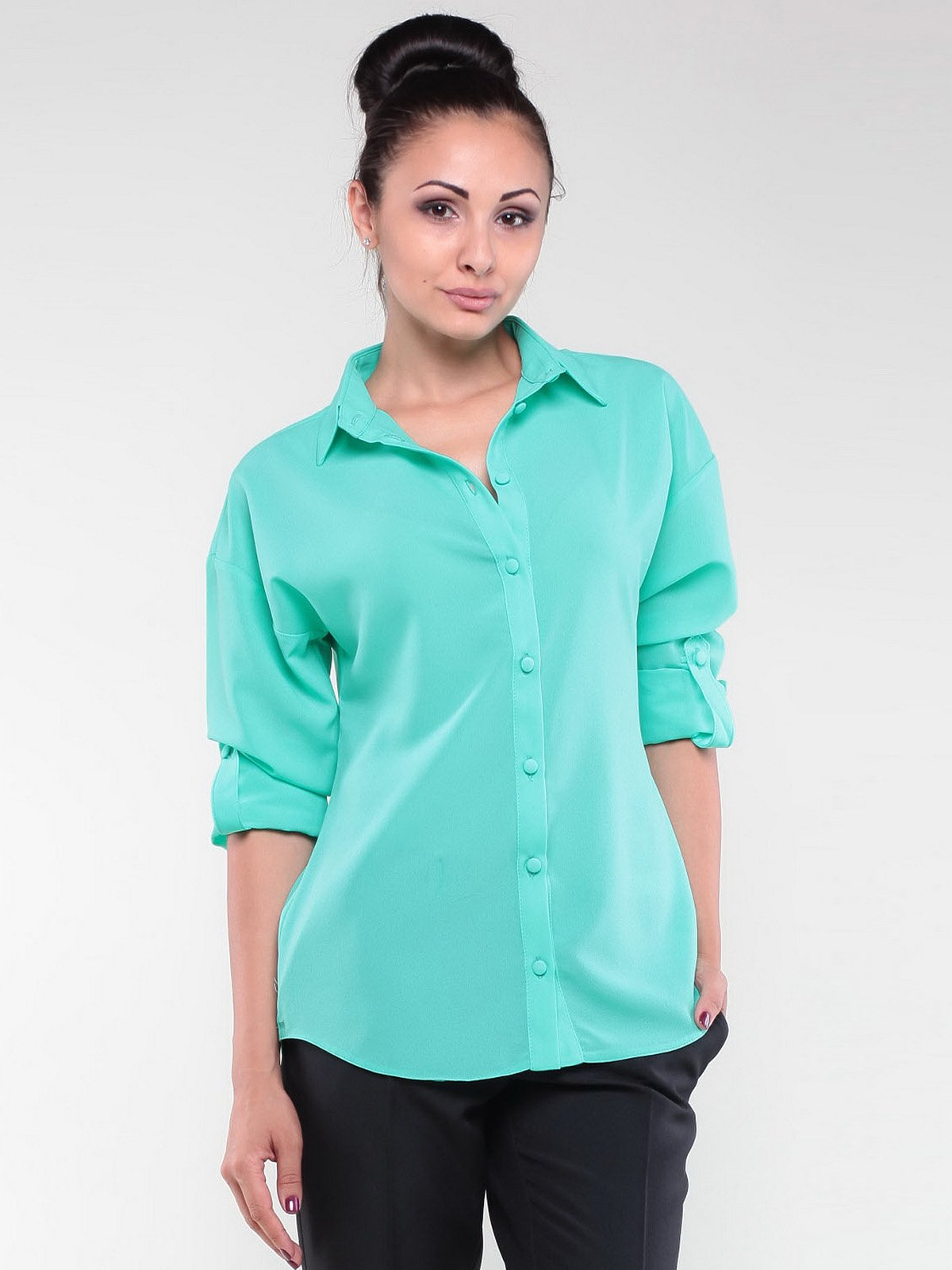 Блуза ментолового цвета | 1959010