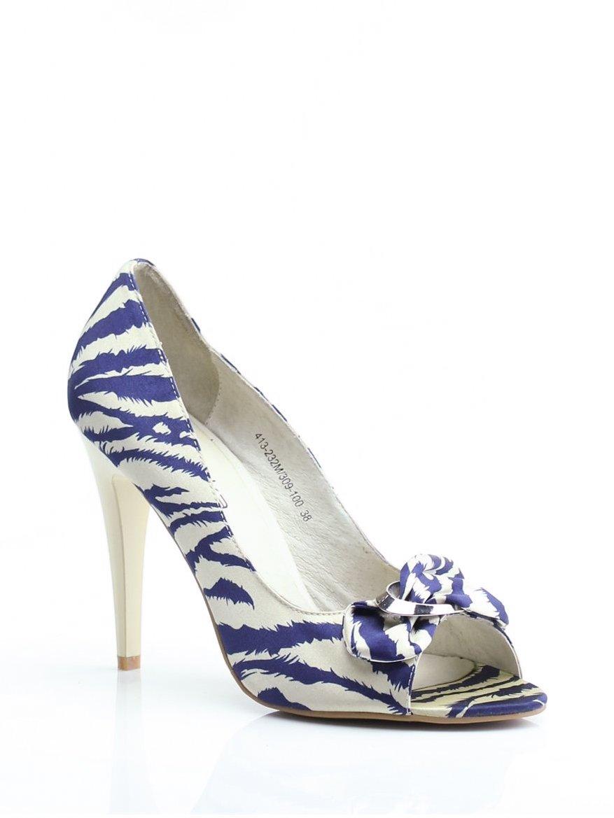 Туфлі синьо-бежеві в принт   1792315