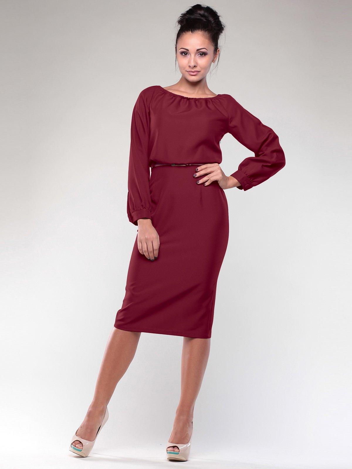 Платье сливового цвета | 1970011 | фото 3