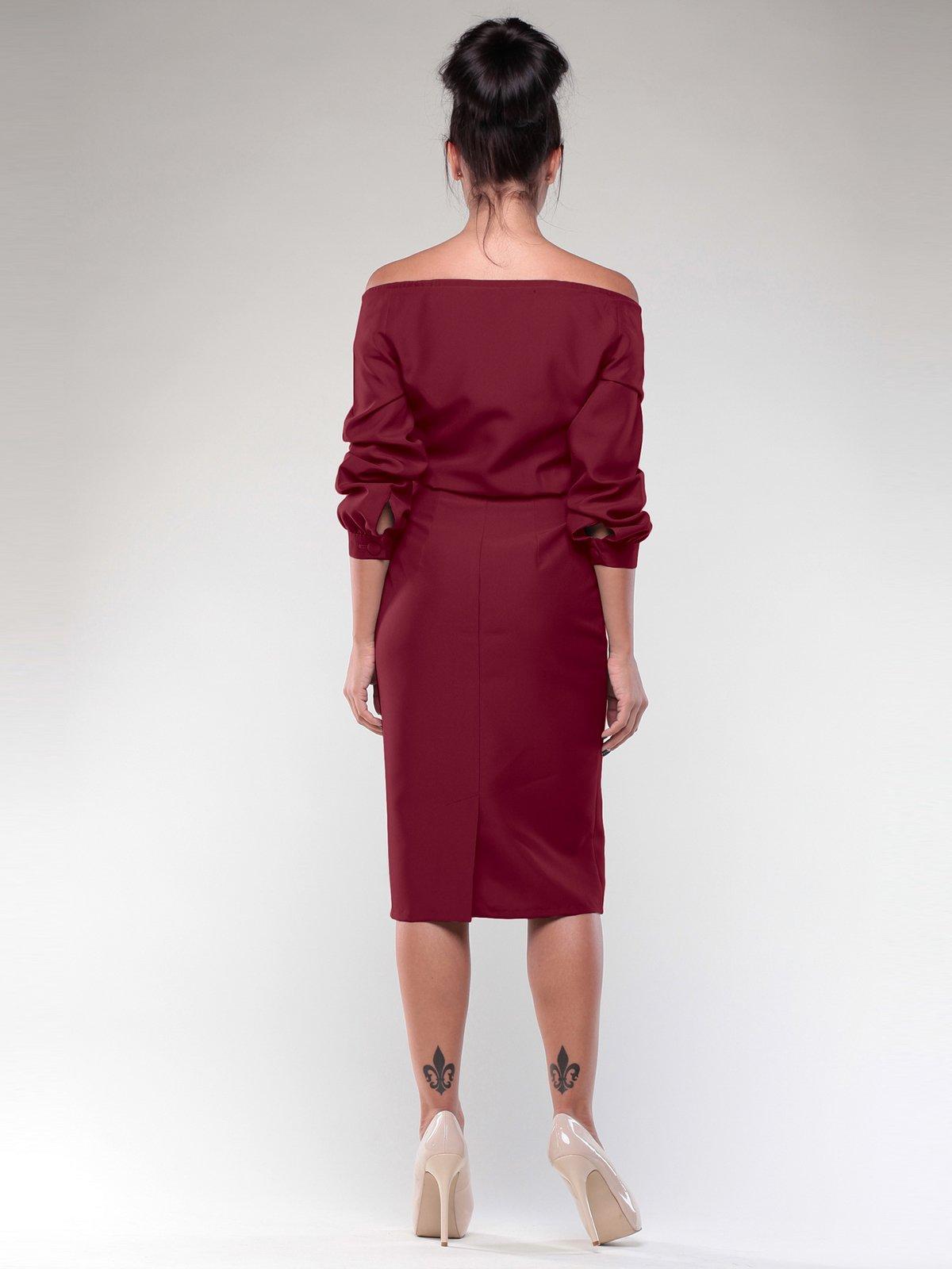 Платье сливового цвета | 1970011 | фото 5