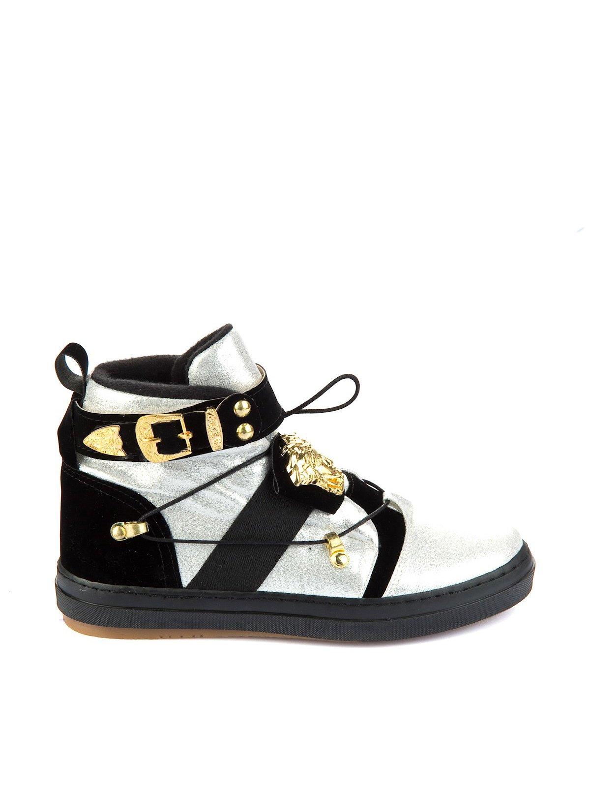 Ботинки черно-серебристые | 1970363