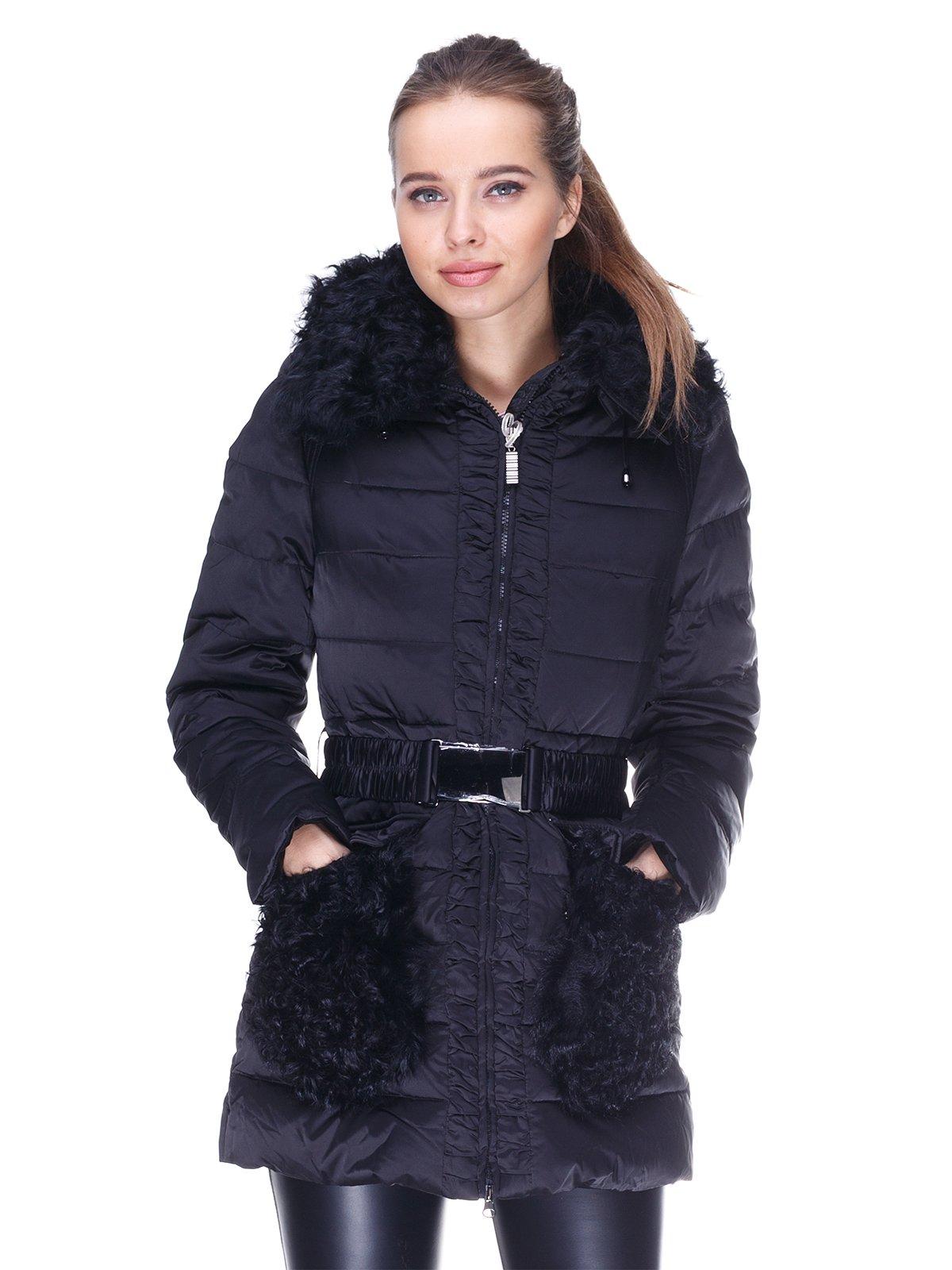 Куртка черная пуховая | 254401
