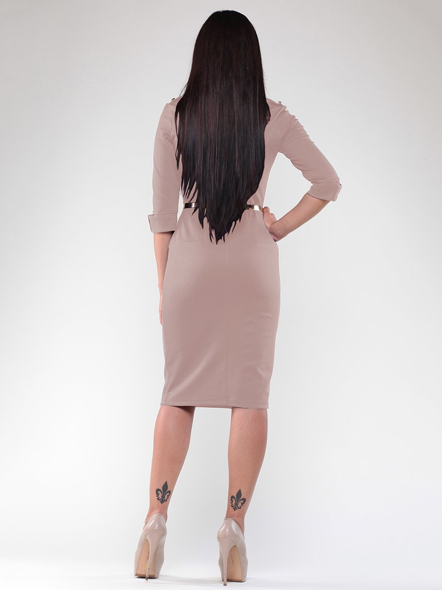Платье бежевое | 1984552 | фото 2