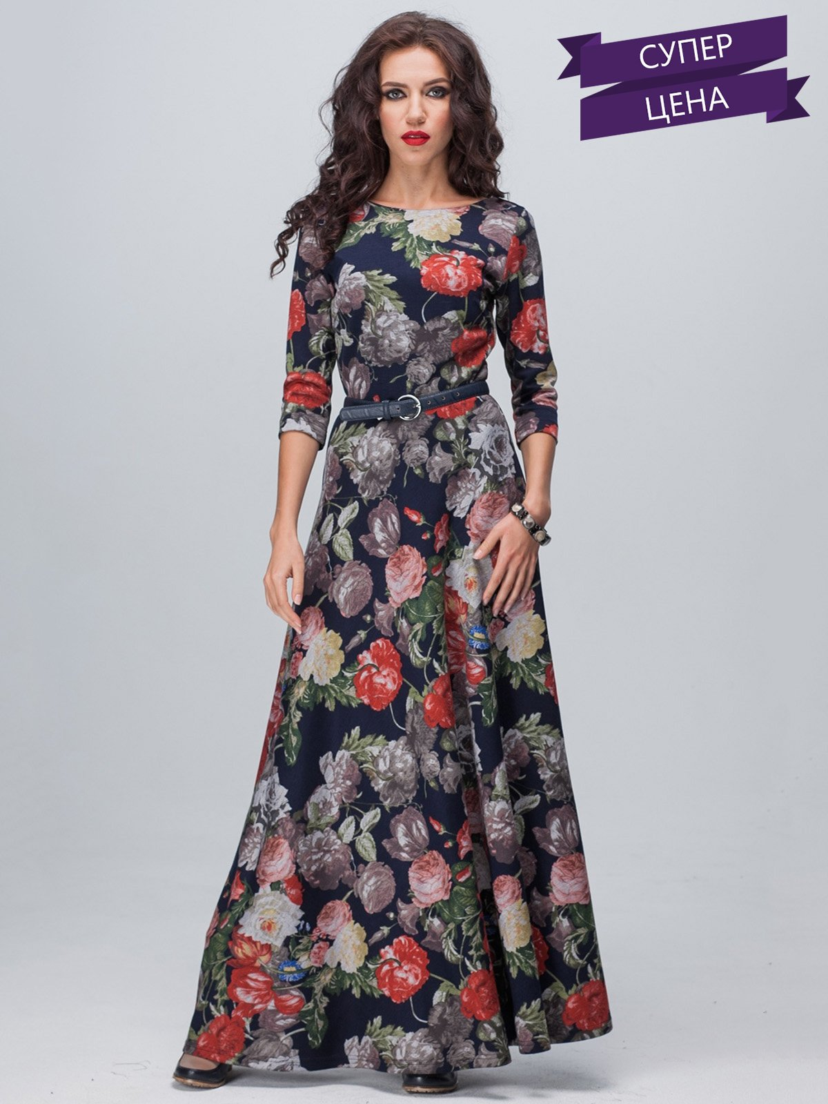 Платье цветочной расцветки | 1925513