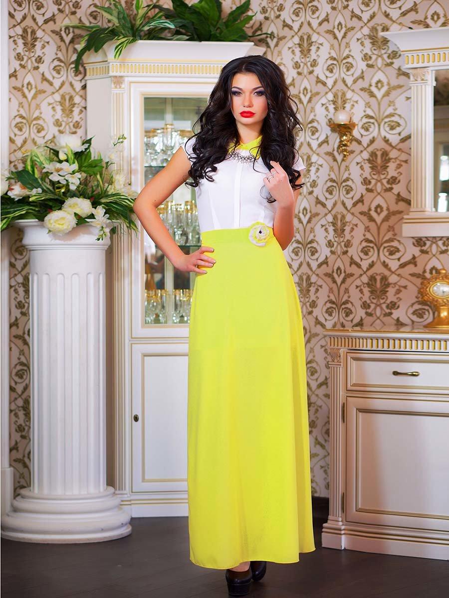 Сукня біло-жовта з квіткою | 1693853 | фото 10