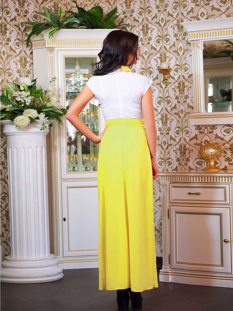 Сукня біло-жовта з квіткою | 1693853 | фото 12