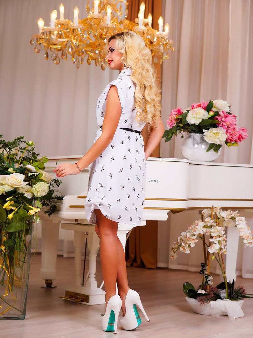 Сукня біла в принт | 1749162 | фото 12